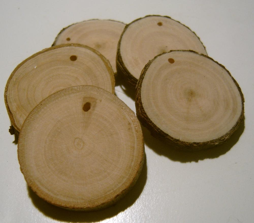 300 Assorted Blank Tree Branch Slices 1.5 -2 inch Wholesale Lot
